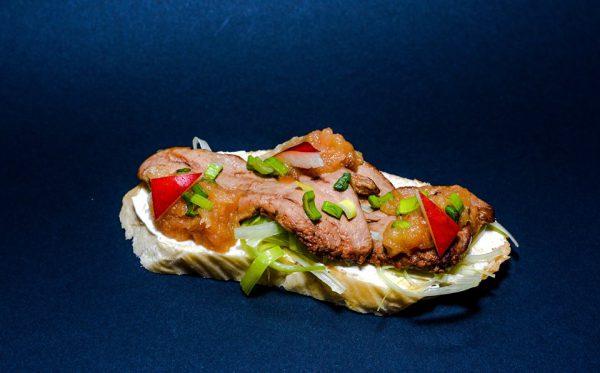 Libamájas szendvics