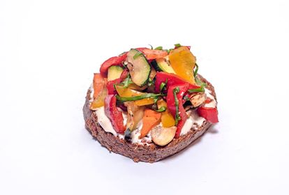 Vegán grillzöldséges szendvics